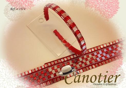 Tocados Canotier e-1374a